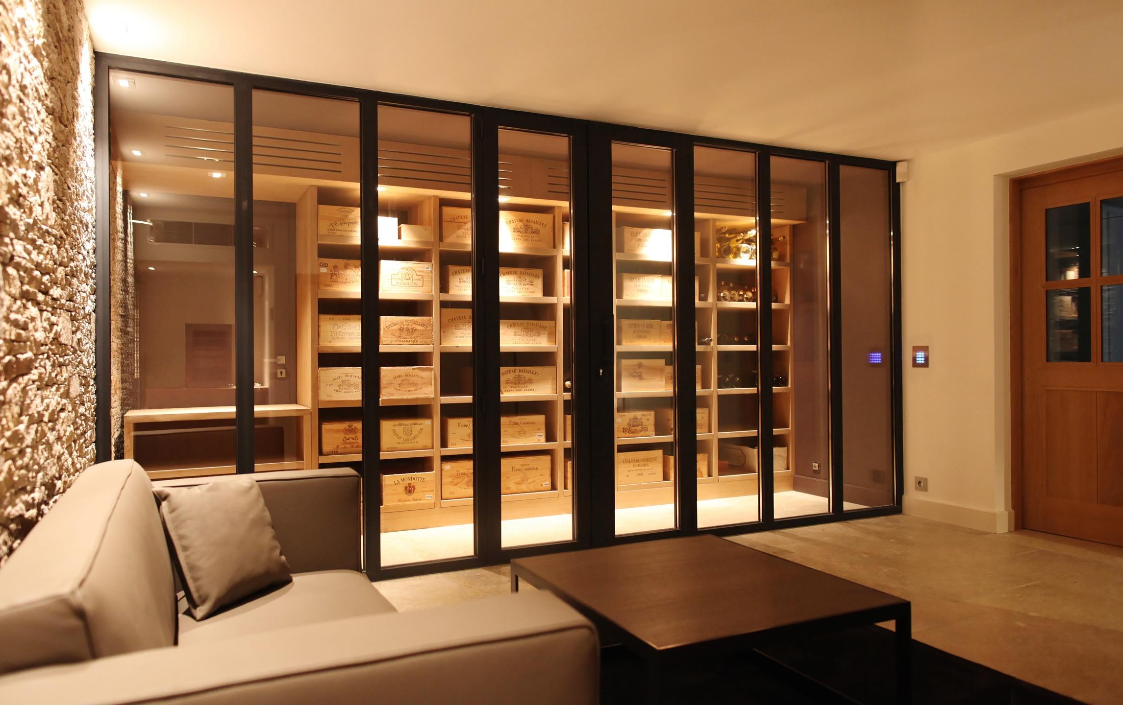 cave à vins pour une villa à ramatuelle lmb cave à vins réalisé ...